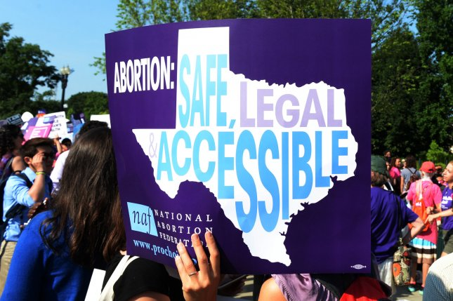 The Texas law allows virtually anyone in the United States to file a lawsuit against someone who aided an abortion in Texas after six weeks of pregnancy. File Photo by Pat Benic/UPI