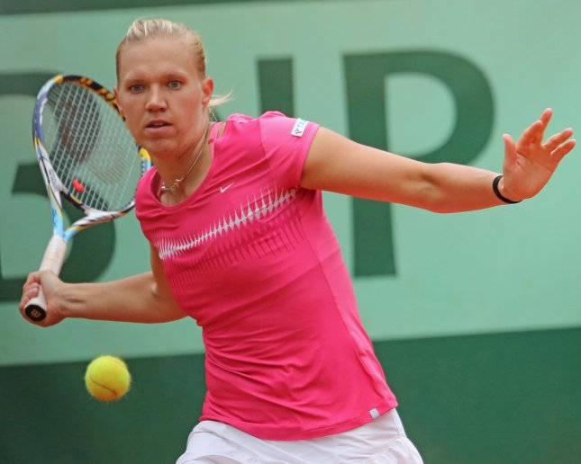 Kaia Kanepi, shown in a 2012 file photo, had a second-round win Wednesday at the Portugal Open, an event she won last year. UPI/David Silpa