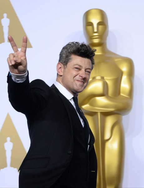 War for the Planet of the Apes star Andy Serkis appears backstage at the 88th Academy Awards in Los Angeles on February 28, 2016. File Photo by Jim Ruymen/UPI
