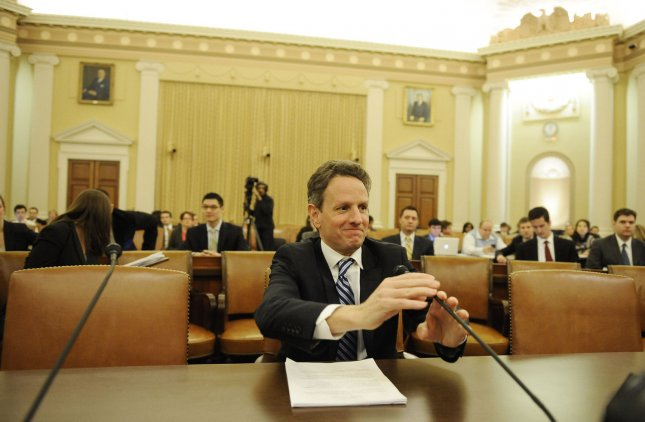 Treasury Secretary Timothy Geithner testifies before the House Ways and Means Committee on The President's FY2012 Budget Proposal on Capitol Hill in Washington on February 15, 2011. UPI/Roger L. Wollenberg