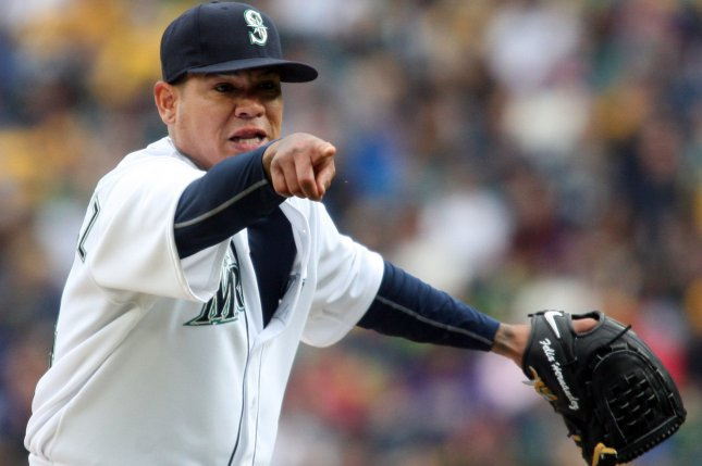 Seattle Mariners pitcher Felix Hernandez. Photo by Jim Bryant/UPI