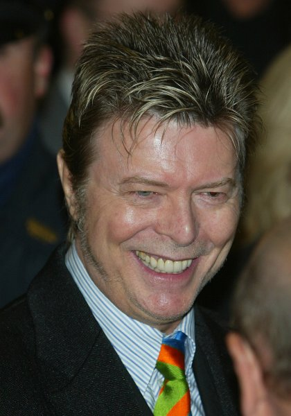Singer David Bowie arrives at opening night of the play The Color Purple on December 1, 2005 in New York City. Photo by Monika Graff/UPI