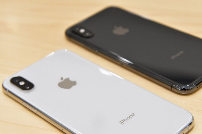 Apple's iPhone X is seen during its launch at the KDDI's au Shinjuku store in Tokyo, Japan, on September 21, 2018. File Photo by Keizo Mori/UPI