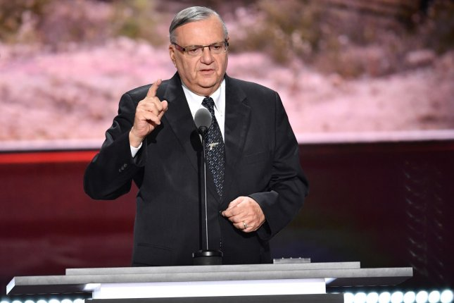 Joe Arpaio, the former sheriff of Maricopa County, Arizona, announced Sunday that if he is elected to a record seventh term, he would reinstate his hardline policies that brought him both national attention and criticism. Photo by Kevin Dietsch/UPI