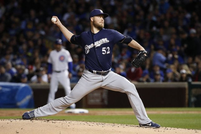 Former Milwaukee Brewers starting pitcher Jimmy Nelson could earn $13 million if he hits all of his incentives. File Photo by Kamil Krzaczynski