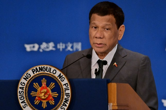 President of the Philippines Rodrigo Duterte has postponed the termination of a military pact with the United States. File Photo by Keizo Mori/UPI