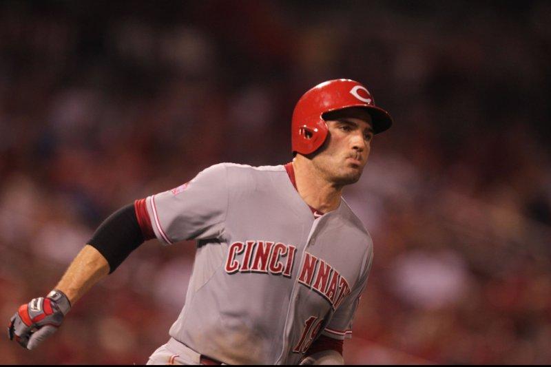 Cincinnati Reds' Joey Votto. Photo by Bill Greenblatt/UPI