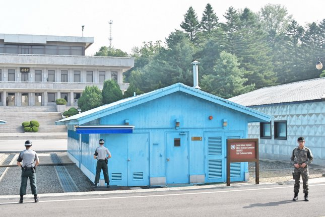 One of the North Korean soldiers who defected across the demilitarized zone was found to have developed antibodies against anthrax, according to a South Korean press report. File Photo by Keizo Mori/UPI