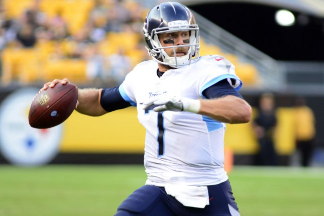 71988789597 Tennessee Titans backup quarterback Blaine Gabbert (7) scrambles to the  right and throws an incomplete pass during the fourth quarter against the  Pittsburgh ...