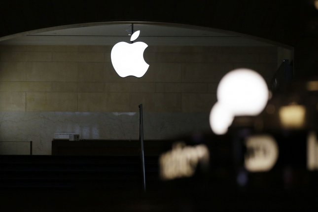 An Apple store is closed for business at the Grand Central Station Terminal in New York City on April 27. Apple store locations in six states were permitted to reopen on Monday. Photo by John Angelillo/UPI