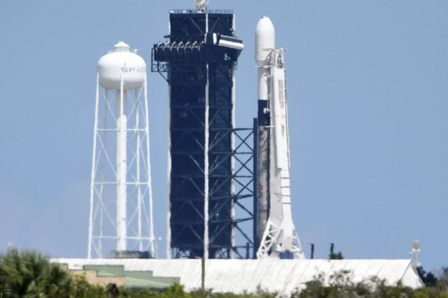 SpaceX aborted the launch of a Falcon 9 rocket, shown on Sept. 17 at Kennedy Space Center, that had been scheduled for launch Thursday with 60 of SpaceX's Starlink satellites. Photo by Joe Marino/UPI