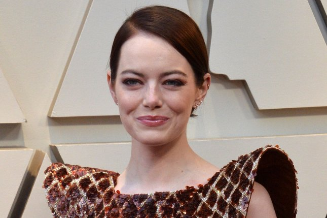 Cruella star Emma Stone arrives on the red carpet at the 91st annual Academy Awards in February 2019. File Photo by Jim Ruymen/UPI