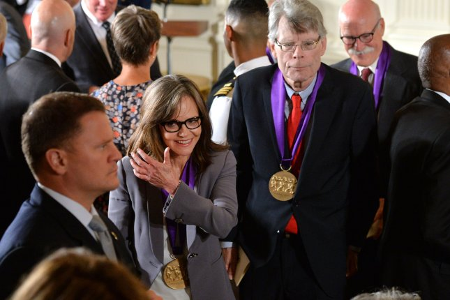 Actress and filmmaker Sally Field and author Stephen King after President Barack Obama awarded them with 2014 National Medals of Arts during a ceremony at the White House in Washington, D.C. on September 10, 2015. File photo by Kevin Dietsch/UPI