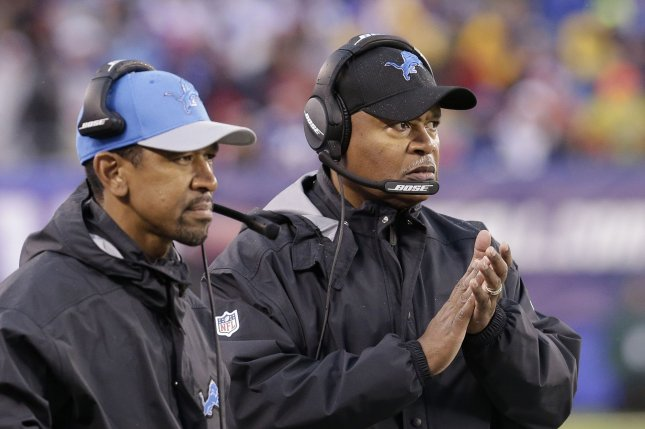 Detroit Lions head coach Jim Caldwell stands on the sidelines in the second half against the New York Giants in week 15 of the NFL at MetLife Stadium in East Rutherford, New Jersey on December 18, 2016. The Giants defeated the Lions 17-6. Photo by John Angelillo/UPI