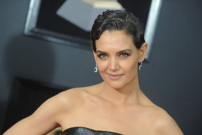 Katie Holmes arrives on the red carpet at the 60th Annual Grammy Awards ceremony at Madison Square Garden in New York City on January 28. The actor turns 40 on December 18. File Photo by Dennis Van Tine/UPI