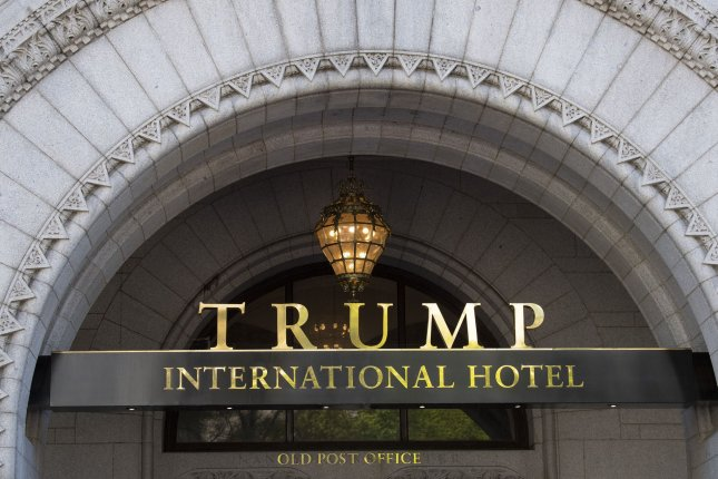 The Trump International Hotel is seen in downtown Washington, D.C., on April 22. The lawsuit says President Donald Trump is unlawfully profiting from the hotel when foreign leaders or dignitaries stay there. Photo by Pat Benic/UPI