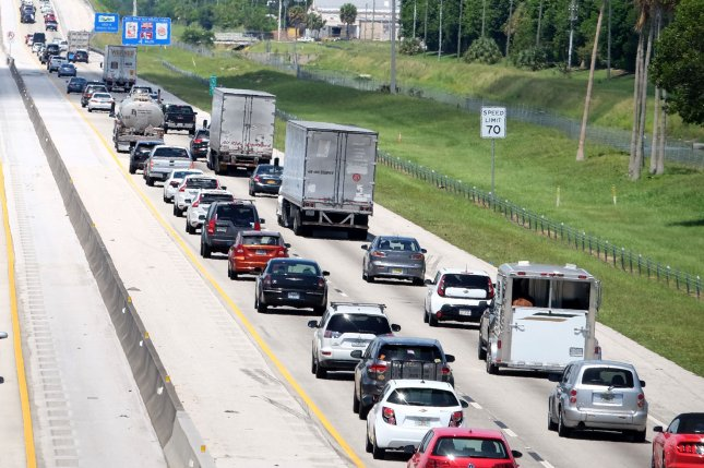 The vast majority of Memorial Day weekend travelers are expected to take to the roads. File Photo by Gary I Rothstein/UPI