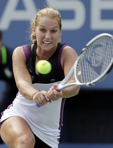 Dominika Cibulkova, shown at the 2011 U.S. Open, earned her third WTA title last week and moves to 21st in the world rankings. UPI/John Angelillo
