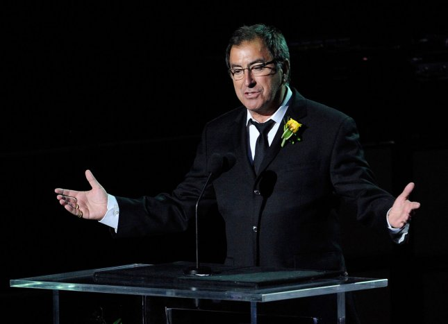 Director Kenny Ortega speaks during the memorial service for Michael Jackson at Staples Center in Los Angeles on July 7, 2009.The King of Pop died in Los Angeles on June 25 at age 50. (UPI Photo Photo/Kevork Djansezian/Pool)