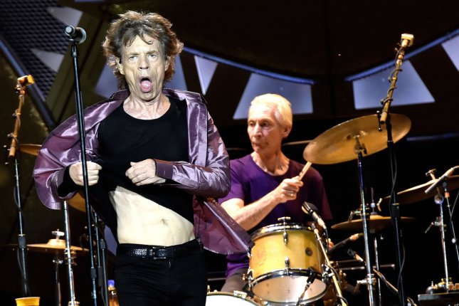 The Rolling Stones' Mick Jagger performs on stage at the Citrus Bowl in Orlando, Florida, on June 12, 2015. Photo by Gary I Rothstein /UPI
