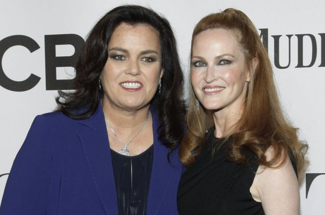Rosie O'Donnell (L) and Michelle Rounds arrive on the red carpet at the 68th Tony Awards in New York City on June 8, 2014. O'Donnell is set to star in the new Showtime comedy SMILF. File Photo by John Angelillo/UPI