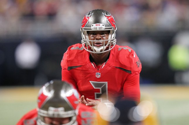 Tampa Bay Buccaneers quarterback Jameis Winston waits for the snap in the fourth quarter against the Rams at the Edward Jones Dome in St. Louis on December 17, 2015. File photo by Bill Greenblatt/UPI