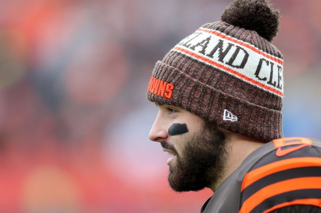 Cleveland Browns quarterback Baker Mayfield clapped back at Arian Foster after the former NFL running back dissed him for dancing on Twitter. File Photo by Aaron Josefczyk/UPI