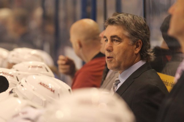 Dave Tippett previously coached the Phoenix/Arizona Coyotes and Dallas Stars. File Photo by Bill Greenblatt/UPI