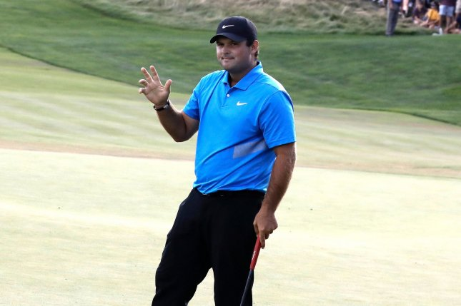 Tiger Woods defended fellow American golfer Patrick Reed (pictured) after members of the International Team criticized him for cheating in the tournament ahead of the 2019 Presidents Cup. Photo by Peter Foley/UPI