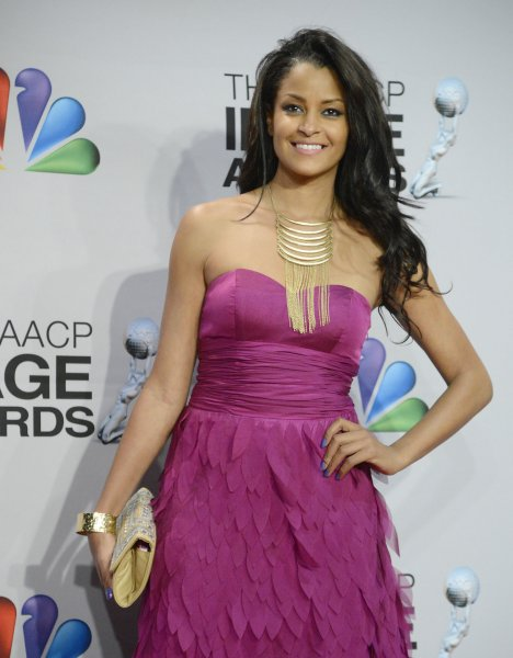 Actress Claudia Jordan appears backstage at the 44th NAACP Image Awards at the Shrine Auditorium in Los Angeles on February 1, 2013. UPI/Phil McCarten
