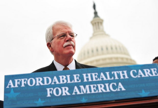 U.S. Rep. George Miller, D-Calif., shown in a 2013 file photo, said he will not run for re-election. UPI/Kevin Dietsch