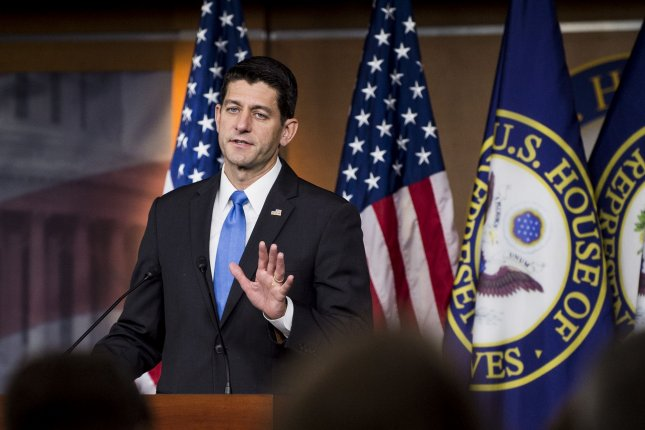 House Speaker Paul Ryan, R-Wis., speaks during his weekly press conference on Capitol Hill. Ryan was one of several prominent Republcians to distance themselves from GOP nominee Donald Trump after a lewd video of him talking about women was released. Photo by Pete Marovich/UPI