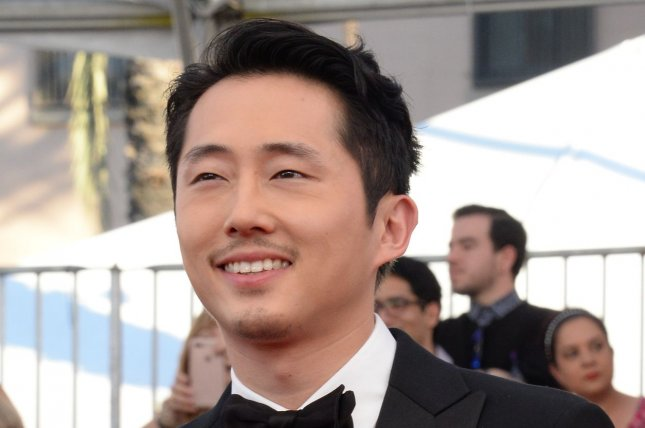 Actor Steven Yeun arrives for the 23rd annual SAG Awards in Los Angeles on January 29. Yeun will voice a character in Stretch Armstrong and the Flex Fighters on Netflix. File Photo by Jim Ruymen/UPI