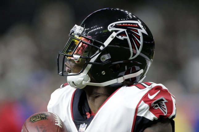 Atlanta Falcons wide receiver Julio Jones has two years left on his current contract. He is scheduled to earn $9.6 million this season and about $11.4 million next year. File Photo by AJ Sisco/UPI