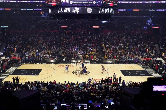 The Los Angeles Lakers' value was estimated to be more than $4 billion before the coronavirus pandemic. File Photo by Jon SooHoo/UPI