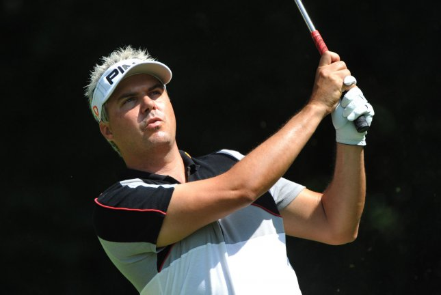 Daniel Chopra, shown during a tournament in July 2009, has the clubhouse lead after completing 36 holes of the Singapore Open, a stop on the European PGA Tour schedule. Many golfers were unable to complete their second rounds Friday because of weather issues. (UPI Photo/Kevin Dietsch)