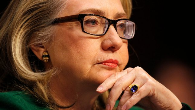 Secretary of State Hillary Clinton listens to opening statements before testifying before the Senate Foreign Relations Committee hearing on the terrorist attacks on the U.S. Embassy in Benghazi, in Washington, DC on January 23, 2013. UPI/Molly Riley