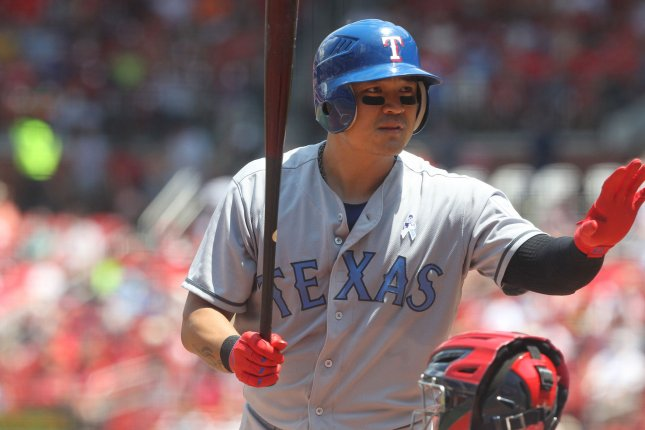 Shin-Soo-Choo and the Texas Rangers take on the Baltimore Orioles on Sunday. Photo by Bill Greenblatt/UPI