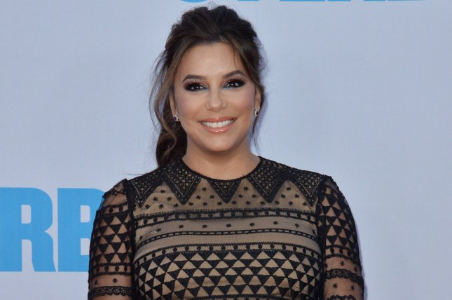 Eva Longoria shared a body-positive message after welcoming son Santiago with Jose Pepe Baston. File Photo by Jim Ruymen/UPI
