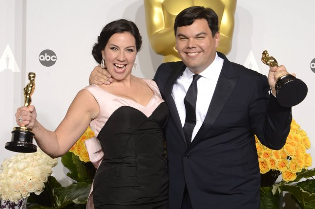 Four new Frozen songs written by Kristen Anderson-Lopez and Robert Lopez and performed by the Broadway cast will be released on consecutive Fridays, starting Feb. 23. File Photo by Phil McCarten/UPI