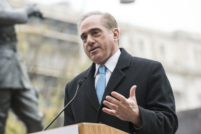 Veterans Affairs Secretary David Shulkin delivers remarks at the groundbreaking ceremony for the WWI Memorial in Washington, D.C. File Photo by Kevin Dietsch/UPI