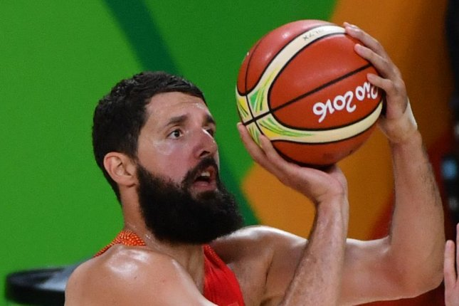 Nikola Mirotic, who is leaving the NBA for the EuroLeague, played for Spain in the 2016 Rio Summer Olympics. File Photo by Kevin Dietsch/UPI