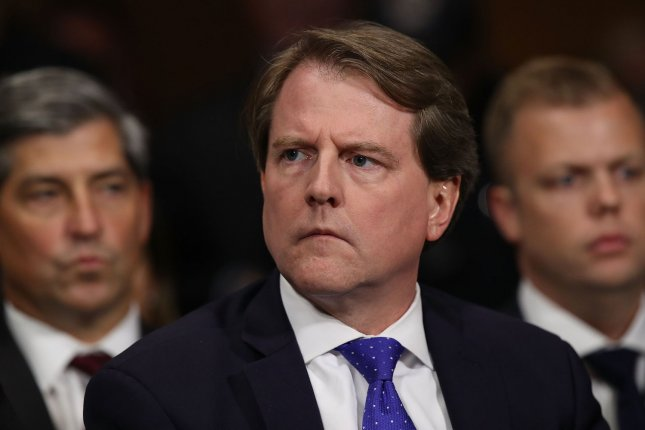 The House judiciary committee filed a lawsuit to compel testimony from former White House counsel Don McGahn. File Photo by Win McNamee/UPI