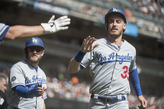 Cody Bellinger and the Los Angeles Dodgers lost to the Houston Astros in the 2017 World Series. File Photo by Terry Schmitt/UPI