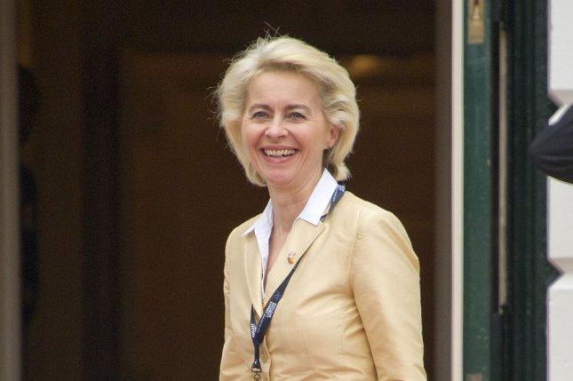 Ursula von der Leyen, European Commission president, released a report Wednesday calling for shared and secure access of data among EU members. File Photo by by Ron Sachs/UPI