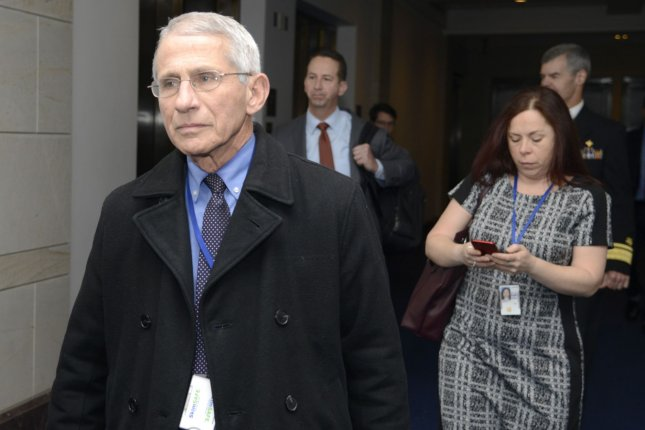 National Institute of Allergy and Infectious Diseases Director Anthony Fauci arrives Thursday at the U.S. Capitol in Washington, D.C., to brief lawmakers on the federal coronavirus response, Photo by Mike Theiler/UPI