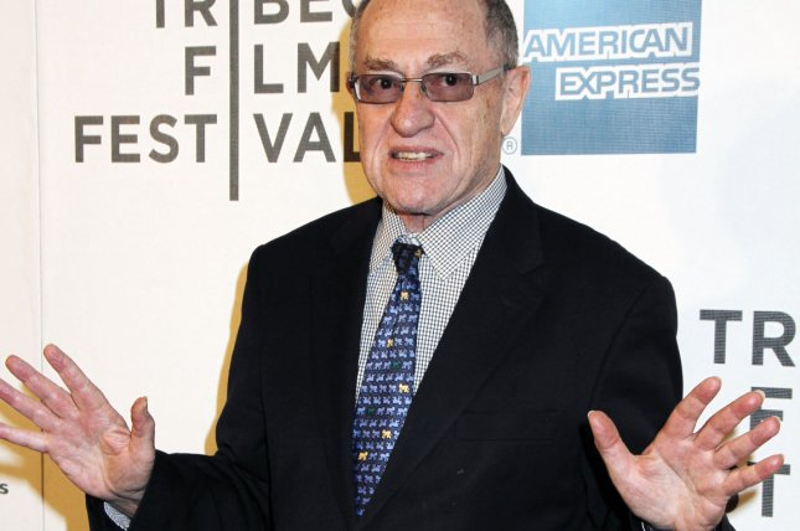 Alan Dershowitz arrives for the Tribeca Film Festival. UPI /Laura Cavanaugh