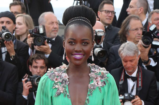 Lupita Nyong'o at the Cannes International Film Festival on May 13. The actress debuted a longer hairstyle at the D23 expo Saturday. File photo by David Silpa/UPI