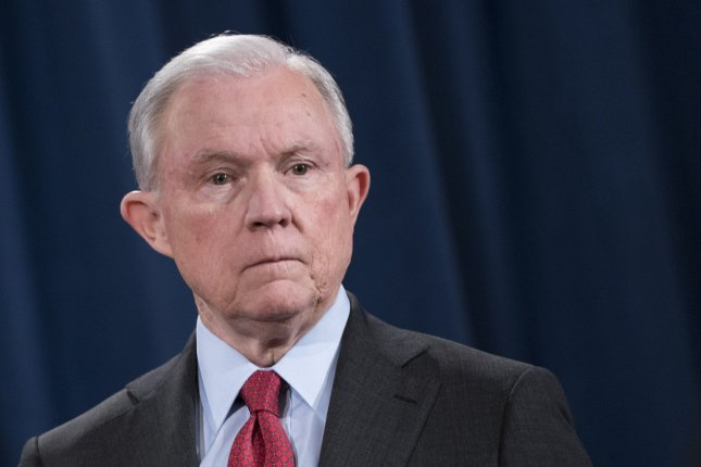 Attorney General Jeff Sessions said Deputy Attorney General Rod Rosenstein would name a senior official to head a cybersecurity task force. File Photo by Kevin Dietsch/UPI