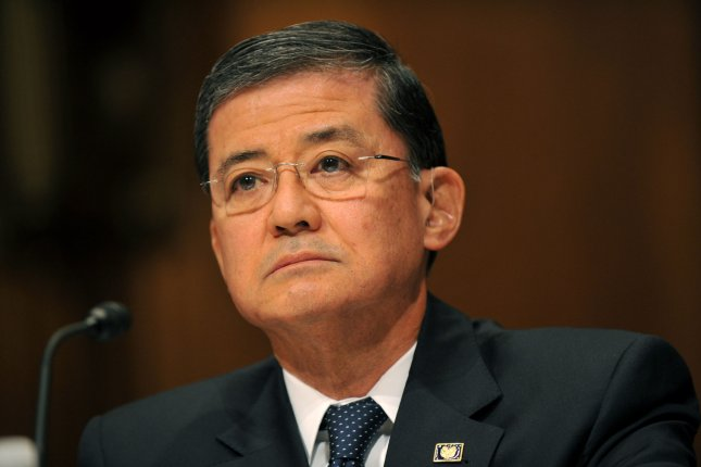 Veterans Affairs Secretary Eric Shinseki testifies during a Senate Budget Committee hearing on President Obama's budget proposal and veterans program proposals, on April 23, 2013 in Washington, D.C. UPI/Kevin Dietsch